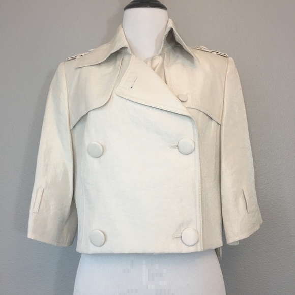 Full Circle champagne cropped jacket size 12 NWT 7cab44f8a